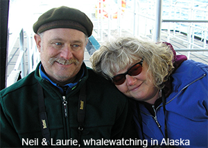 Neil & Laurie, whalewatching in Alaska