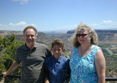 Neil, Logan, Laurie at Santa Fe, NM 2004
