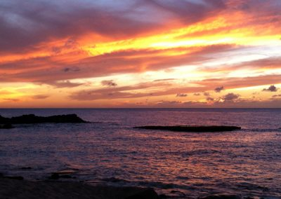 Sunset at 3 Tables Beach, HI, USA