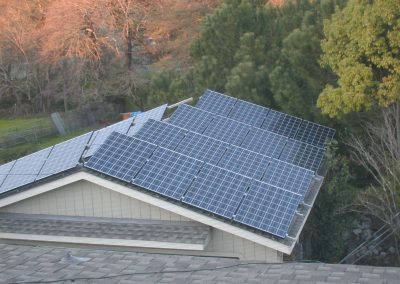Solar photo voltaic panel system on car port roof was kept clean