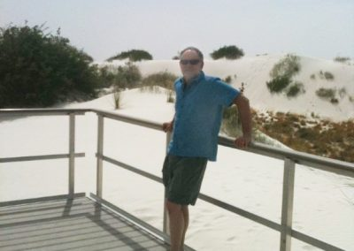 Neil at White Sands National Monument, New Mexico