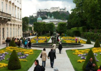 Palace view in Salzburg Austria