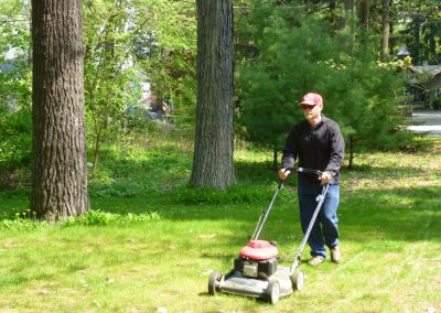 Canadian house sit required weekly mowing of the 1/4 acre lawn