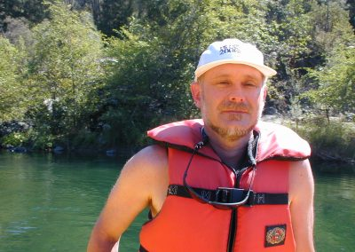 Neil - rafting on the Trinity River